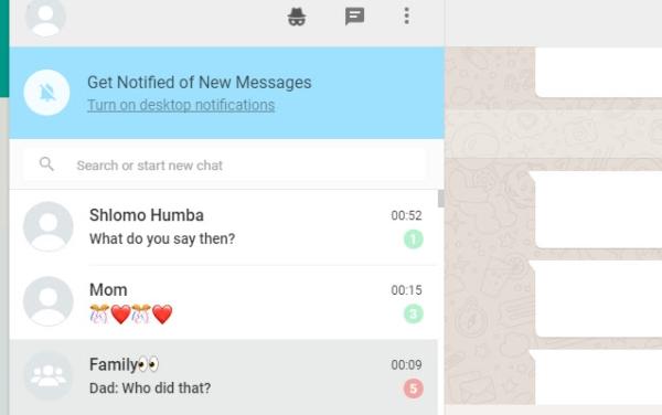 Opciones para ocultar conversaciones en WAIncognito en WhatsApp Web.- Blog Hola Telcel