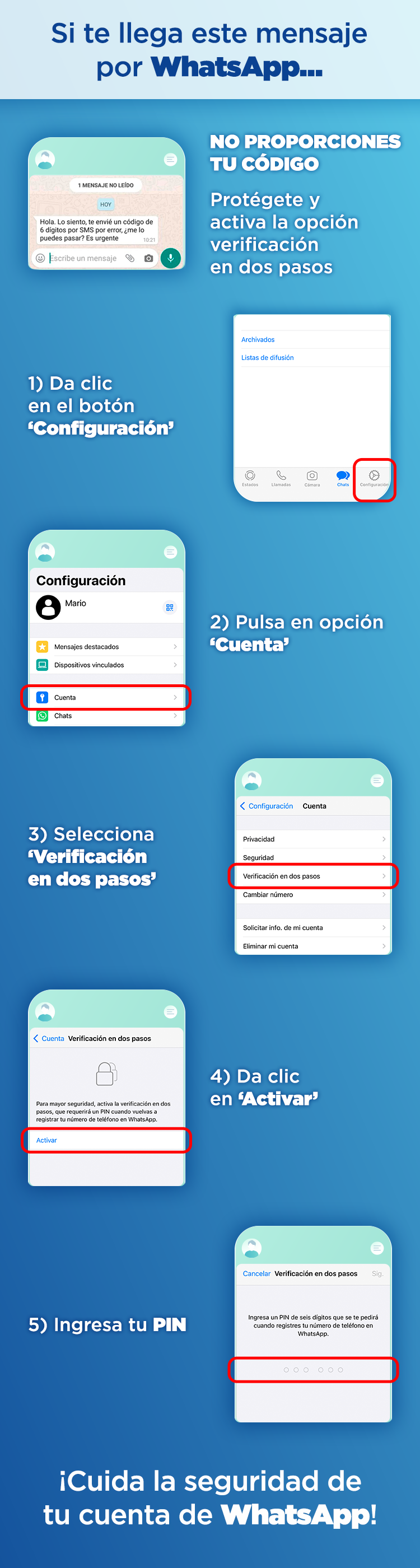 cómo activar la verificación en dos pasos en whatsapp - Blog hola telcel