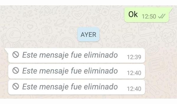 Truco de WhatsApp para saber qué dicen los mensajes eliminados.- Blog Hola Telcel