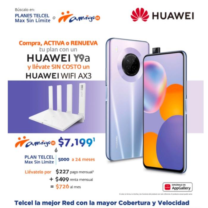 Un nuevo Huawei Y9a puede ser tuyo en Amigo Kit o en un Plan Telcel, además, ¡recibe un Huawei WIF AX3 de regalo!- Blog Hola Telcel