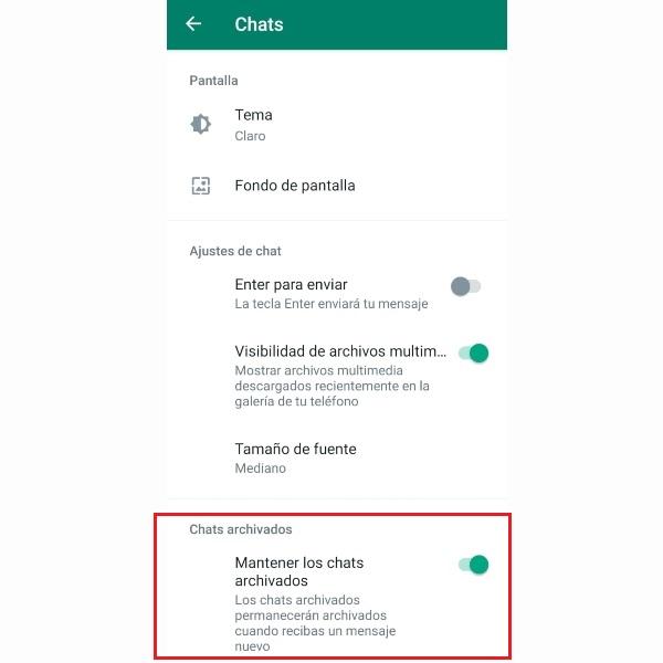 Cómo ocultar la carpeta de chats archivados desde WhatsApp.- Blog Hola Telcel