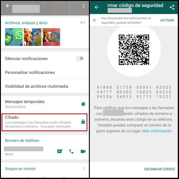 Ejemplo de cifrado de extremo a extremo en WhatsApp.- Blog Hola Telcel