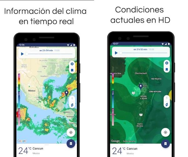 Clime, app de Google Play para checar el pronóstico del tiempo durante otoño.- Blog Hola Telcel
