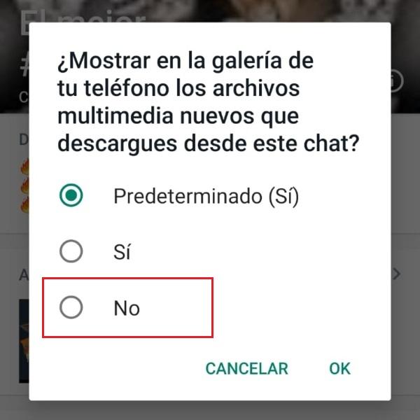 Configura WhatsApp para que las fotos que te envíen no se vean en tu galería.- Blog Hola Telcel