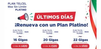 Promoción platino.- Blog Hola Telcel