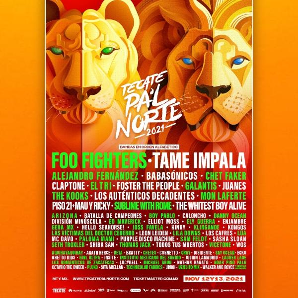 Tecate Pa'l Norte 2021: ¡Foo Fighters y Tame Impala entre las grandes sorpresas!- Blog Hola Telcel
